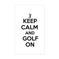Keep Calm and Golf On Decal