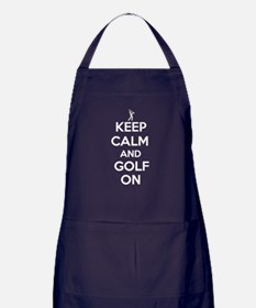 Keep Calm and Golf On Apron (dark)