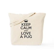 Keep Calm Pug Tote Bag