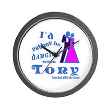 Dancing With Tony Wall Clock