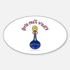 (Fashion Queen) Rule The World Oval Decal