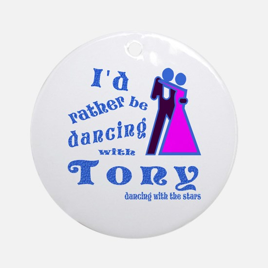 Dancing With Tony Ornament (Round)