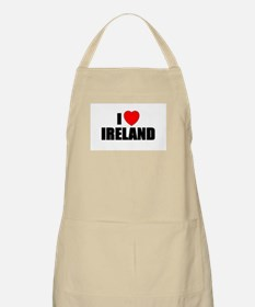 I Love Ireland BBQ Apron