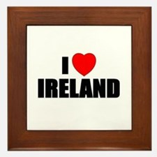 I Love Ireland Framed Tile