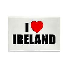 I Love Ireland Rectangle Magnet (10 pack)