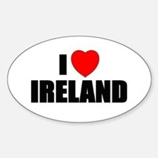 I Love Ireland Oval Decal