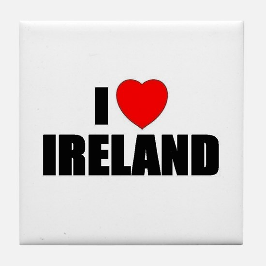 I Love Ireland Tile Coaster