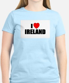 I Love Ireland Women's Pink T-Shirt