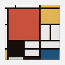 Mondrian Number Two Tile Coaster
