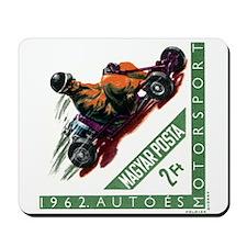 Vintage 1962 Hungary Kart Racing Postage Stamp Mou