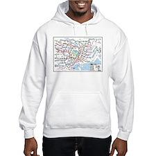Tokyo Metro Map Hoodie (white, grey)