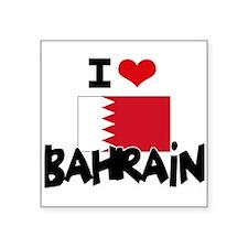 I HEART BAHRAIN FLAG Sticker
