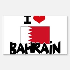 I HEART BAHRAIN FLAG Decal