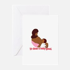 Breastfeeding: It does a baby Greeting Cards (Pack
