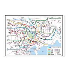 Tokyo Metro Map Postcards (Package of 8)