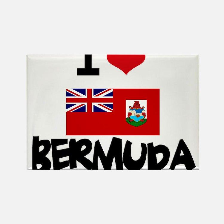 I HEART BERMUDA FLAG Rectangle Magnet