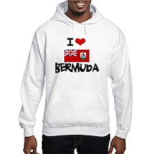 I HEART BERMUDA FLAG Hoodie