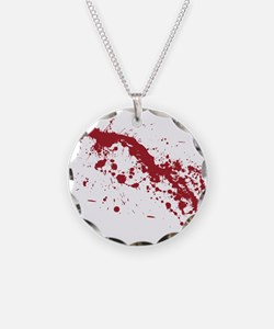 Red Blood Splatter Necklace
