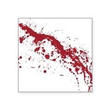 "Red Blood Splatter Square Sticker 3"" x 3"""