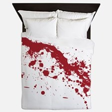 Red Blood Splatter Queen Duvet
