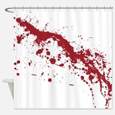 Red Blood Splatter Shower Curtain