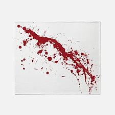 Red Blood Splatter Throw Blanket
