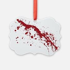 Red Blood Splatter Ornament