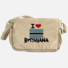 I HEART BOTSWANA FLAG Messenger Bag