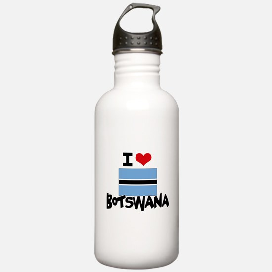 I HEART BOTSWANA FLAG Water Bottle