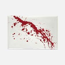 Red Blood Splatter Rectangle Magnet