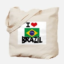 I HEART BRAZIL FLAG Tote Bag