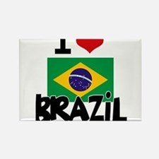 I HEART BRAZIL FLAG Rectangle Magnet