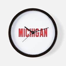 Michigan Wall Clock