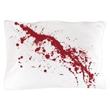 Red Blood Splatter Pillow Case