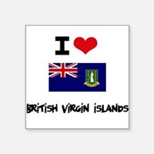 I HEART BRITISH VIRGIN ISLANDS FLAG Sticker