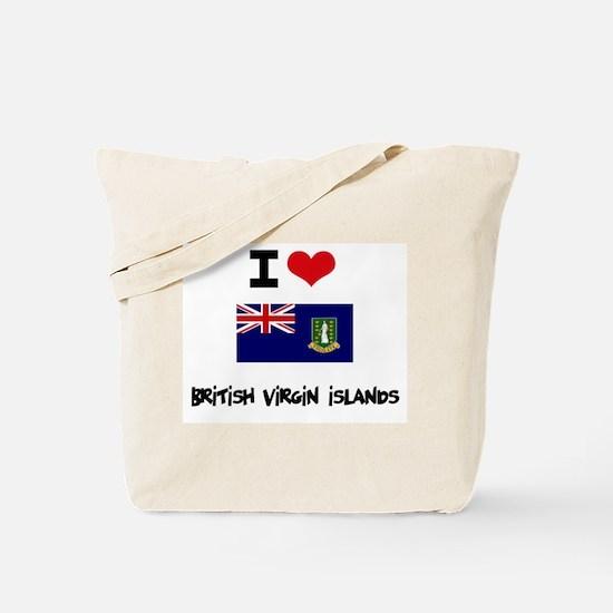 I HEART BRITISH VIRGIN ISLANDS FLAG Tote Bag