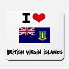 I HEART BRITISH VIRGIN ISLANDS FLAG Mousepad