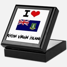I HEART BRITISH VIRGIN ISLANDS FLAG Keepsake Box