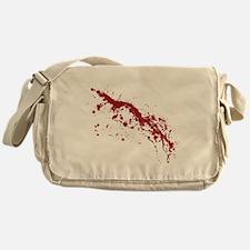 Red Blood Splatter Messenger Bag