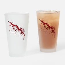 Red Blood Splatter Drinking Glass