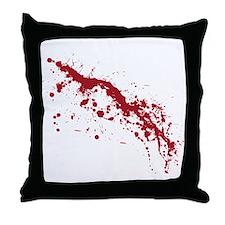 Red Blood Splatter Throw Pillow