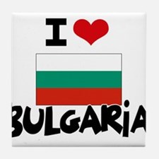 I HEART BULGARIA FLAG Tile Coaster
