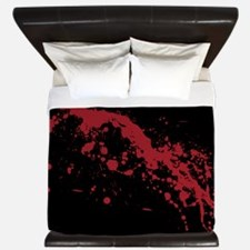 Red Blood Splatter King Duvet