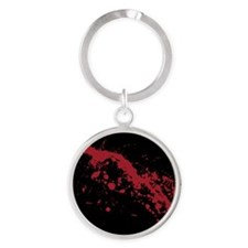 Red Blood Splatter Round Keychain