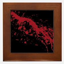Red Blood Splatter Framed Tile