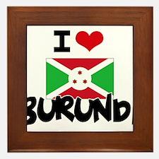 I HEART BURUNDI FLAG Framed Tile