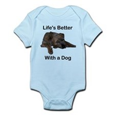 Life's Better With a Dog Infant Bodysuit