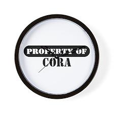 Property of Cora Wall Clock