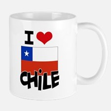I HEART CHILE FLAG Mug