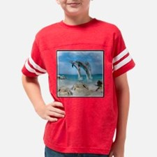 Dolphin Jump Tiles Youth Football Shirt